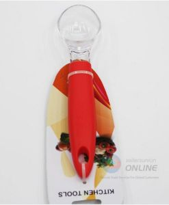 Orange Plastic Handle Transparent Cake Spoon/Ladle pictures & photos