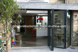 Thermal Break Aluminium Double Glass Folding Door with AS/NZS2208 pictures & photos