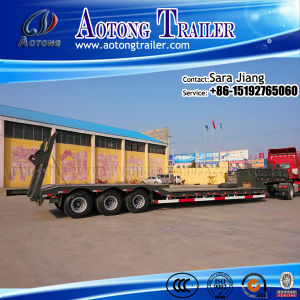 Tri-Axles Low Bed Truck Trailer for Semi Trailer Type pictures & photos