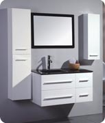 MDF Bathroom Cabinet with Glass Basin pictures & photos