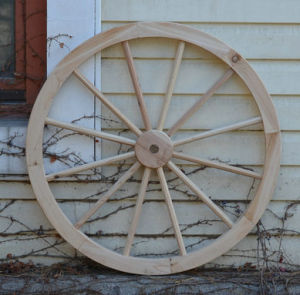 Antique Wood Wheels Wall Hanging Decor