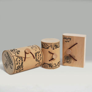 Soft Rond Tube Cylindrical Colorful Light Weight Wood Box for Food Wine Cosmetic Packaging pictures & photos