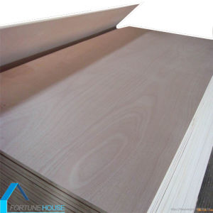 Okoume Veneer and Poplar Core Commercial Plywood for Door Skins pictures & photos