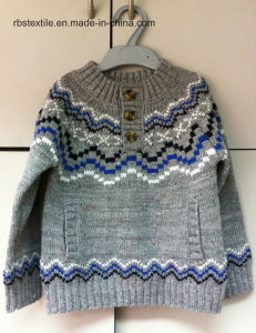 Boys Intarsia - True Knitted Sweater pictures & photos