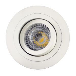 Lathe Aluminum GU10 MR16 Round Tilt Recessed LED Down Light (LT2300) pictures & photos