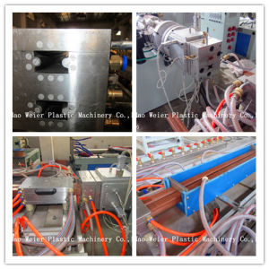 High Quality High Output WPC UPVC Profile Extrusion Machine pictures & photos
