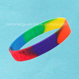 Custom Camouflage Silicone Wristband (Ele-WS012) pictures & photos