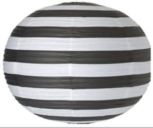 Party Favor Round Ball Striped Paper Lantern