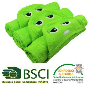 Cotton Animal Design Hooded Bath Towel pictures & photos
