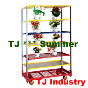 Hot Sales Metal Layer Grow Seedling Flower Trolley pictures & photos
