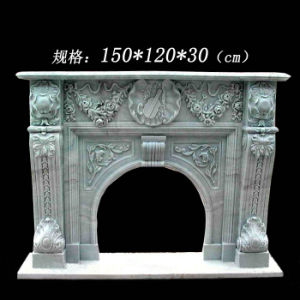 Stone Fireplace Mantel Hand Carved Fireplace (YKFFP-04)