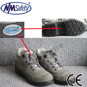 Nmsafety Middle Cut Suede Leather Work Safety Shoes pictures & photos