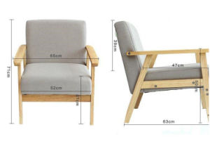 Solid Wooden Fabric Sofa (M-X2179) pictures & photos