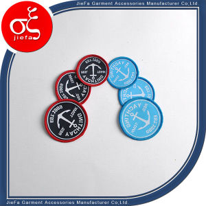 Factory Price Woven Patch with Lockrand/Fabric Logo Garment Patch pictures & photos