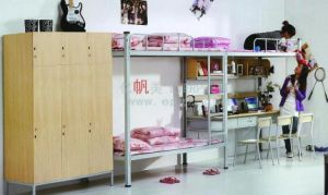 High Quality Dormitory Furniture School Student Bunk Bed with Stairs pictures & photos