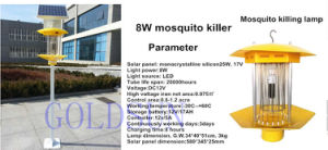 8W Solar or Electric Mosquito Killer Indoor Outdoor Using pictures & photos