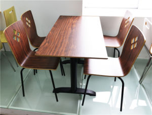 China Manufacturer Solid Surface Restaurant Dining Table for Sale (FOH-CXSC38) pictures & photos