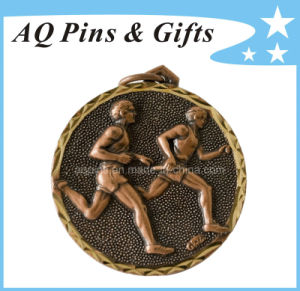 Brass Medal with Antique Gold Plating pictures & photos