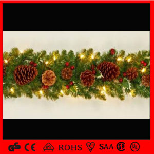 Indoor Christmas Decorations Glitter Flower LED Garland String Light pictures & photos