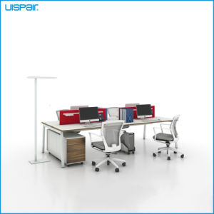 Uispair Modern High Quality MFC Board Telescopic Beam Staff Office Desk White Workstation Office Furniture pictures & photos