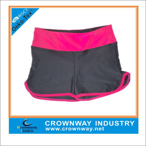 High Waist Women Polyester/Spandex Dri Fit Custom Yoga Shorts pictures & photos