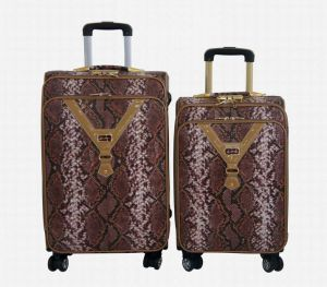 PU 4 Wheels Trolley Bags Luggage Set Suitcase 1jb013 pictures & photos