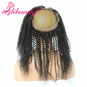 Straight, Body Wave, Curly 360 Lace Frontal Closure #1b Natural Color pictures & photos