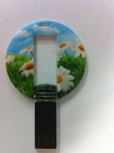 Round Plastic Card USB Flash Drive pictures & photos
