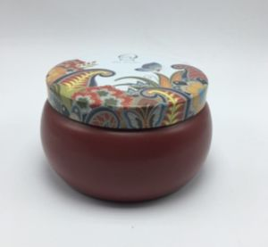 Flameless Scented Candle in The Paiting Tin Jar with Lid pictures & photos
