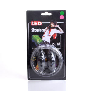 LED Plastic Shoelaces Sports with Colorful Shine Night Running Shoelace pictures & photos