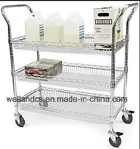 Hospital Moving Metal Utility Cart pictures & photos