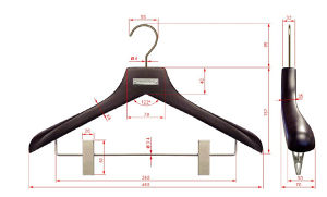 Clips Branded Wooden Suit Hangers for Clothes pictures & photos