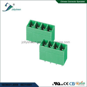 Pluggable Terminal Blocks 4pin 180deg Straight with Green Housing pictures & photos