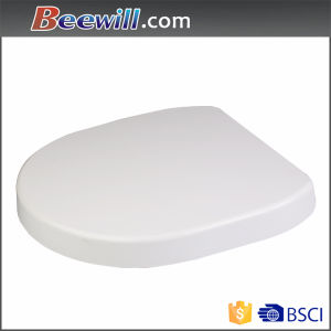 High Gloss Duroplast Wc Urea White Round Toilet Seat pictures & photos