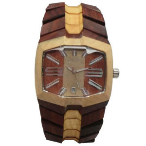 High Quality Wooden Fashion Men′s Quartz Wrist Watch (HL-CD005) pictures & photos