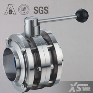 Stainless Steel Sanitary Three-Piece Butterfly Valve pictures & photos