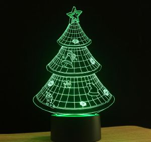 Led Christmas Wall Lights : China Christmas Tree 3D LED Wall Night Light - China Night Lamp, 3D LED Night Lamp