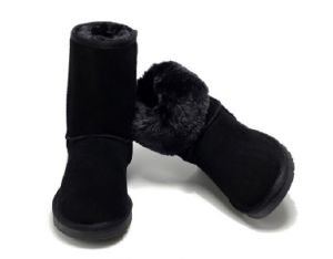 Sheepskin Leather Fashion Snow Boot Hot Sell