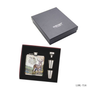 Metal Hip Flask with Cup/Funnel for Promotional Gift (T18) pictures & photos