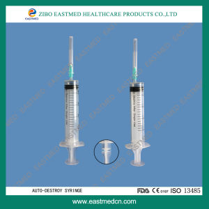 Safety Syringe with Retractable Needle, Disposable Syringe pictures & photos