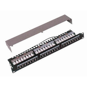 "19"" 24 Port STP Cat. 5e/Cat. 6 Patch Panel pictures & photos"