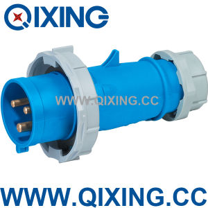 Water & Wood Waterproof IEC309-2 2p+E Industrial Plug Socket AC 220-240V 16A AMP pictures & photos