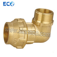 Brass Male Elbow Pipe Fittings for PE Pipe Fitting pictures & photos