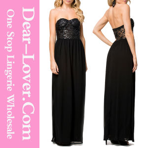 Black Bustier Party Cocktail Evening Prom Gown pictures & photos