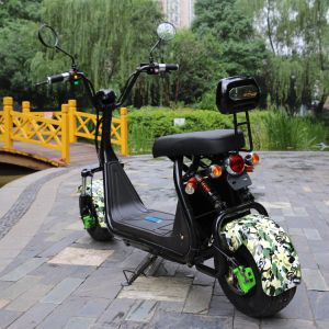 Two Wheels 1000W Fat Tires Harley Electric Scooter pictures & photos