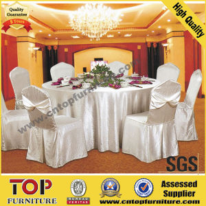 White Classy Polyester Wedding Banquet Chair Cover pictures & photos