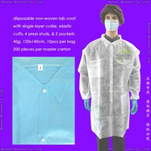 Disposable PP Lab Coat, Disposable PP Laboratory Coat pictures & photos