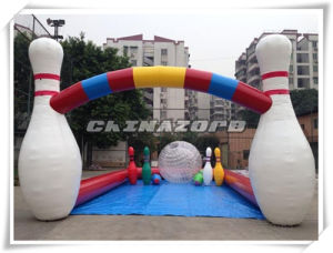 New Fashion Game Outdoor Inflatable Bowling Game Combination of Zorb pictures & photos