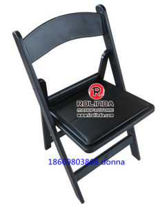 Black Wedding Resin Folding Chair pictures & photos