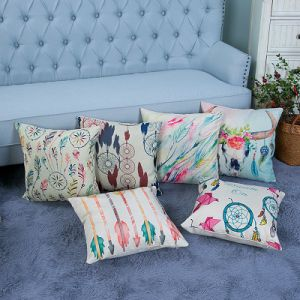 Digital Print Decorative Cushion/Pillow with Ikat Geometric Pattern (MX-14) pictures & photos